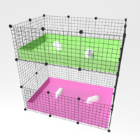 2 x 3 Buddy Enclosure 2 Tier