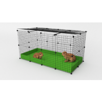 2 x 4 Indoor Rabbit Enclosure with Lid -