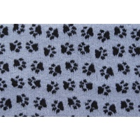 Vet Bed Grey with Black Paws - 35cm x 70cm ( fits our 2 x 1 loft corflute )