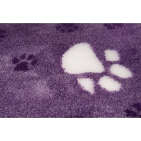 Vet Bed Purple With Large White Paws