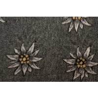 Vet Bed Eldeweiss Flower Design (Charcoal)