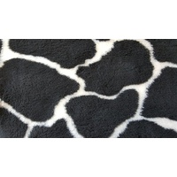 Vet Bed Black and Cream Giraffe Print