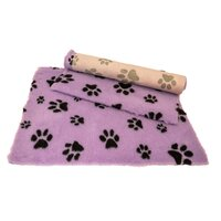 Vet Bed Lilac with Black Designer Paws