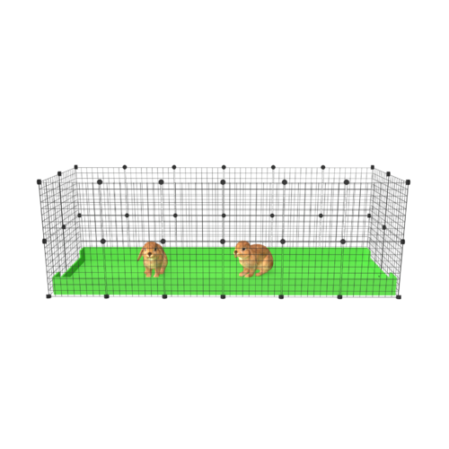 2 x 6 Indoor Rabbit Enclosure White Grids with White Corflute