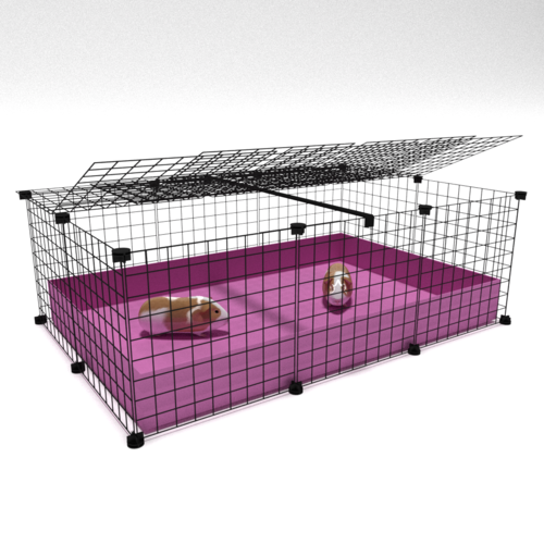 2 x 3 C & C Enclosure with Lid - White Grids & White Corflute
