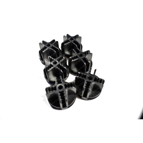 Connectors for Grids 6 Pack - Black