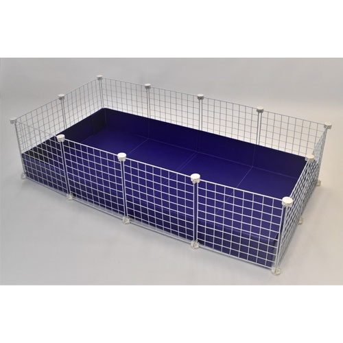 2 x 4 Cage - Purple Corflute and White Grids