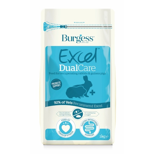 1kg Burgess Dual Care Recovery Pellets for Rabbits & Guinea Pigs